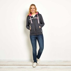 Strata Full Zip Applique Hoodie Navy