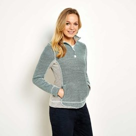 Emmie 1/4 Zip Active Macaroni Sweatshirt Faded Jade