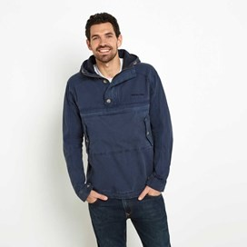 Blades Washed Cotton Popover Hooded Jacket Moonlight Blue