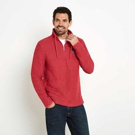 Cruiser Classic ¼ Zip Macaroni Sweatshirt Barberry Red