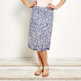 Ditte Reversible Printed Lightweight Skirt Denim