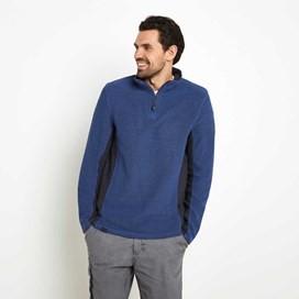 Siren 1/4 Zip Mac Active Macaroni Sweatshirt Vintage Blue