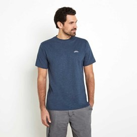 Bones Embroidered Logo Classic Plain T-Shirt Moonlight Blue Marl