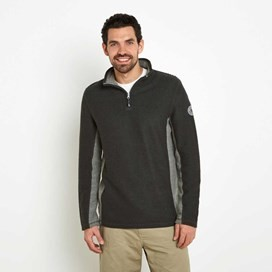 Siren 1/4 Zip Mac Active Macaroni Sweatshirt Washed Black