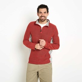 Siren 1/4 Zip Mac Active Macaroni Sweatshirt Radical Red