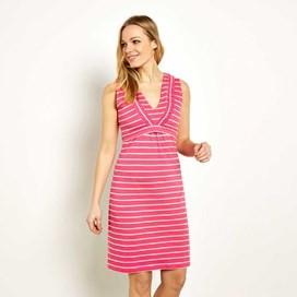 Gandhak Stripe Jersey Dress Hot Pink
