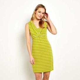 Gandhak Stripe Jersey Dress Citronella