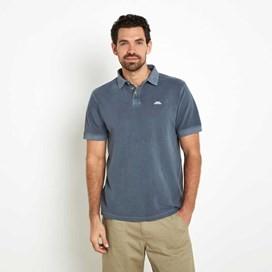 Edwin Garment Dyed Polo Shirt Moonlight Blue