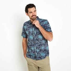 Render Hawaiian Short Sleeve Shirt Moonlight Blue