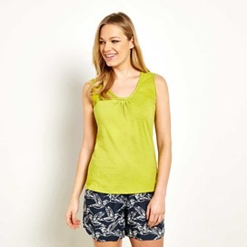 Hanoi Cotton Outfitter Vest Top Citronella