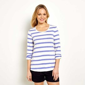 Bollywood Stripe Long Sleeve T-Shirt  Violet