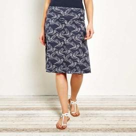 Malmo Printed Jersey Skirt Navy