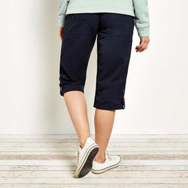 Savannah Cotton 3/4 Length Utility Trouser Navy