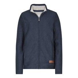 Eartha Full Zip Seira Soft Knit Jacket Dark Navy