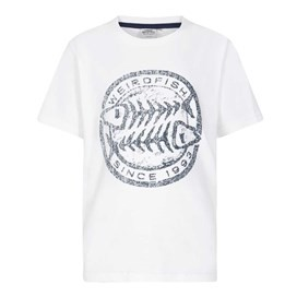 Heritage Surf Graphic Print T-Shirt Snow White Marl