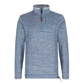 State 1/4 Zip Soft Knit Fleece Top Washed Blue