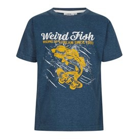 Skatefish Graphic Print T-Shirt Moonlight Blue Marl