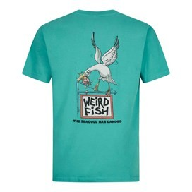 Seagull Has Landed Artist T-Shirt Light Teal