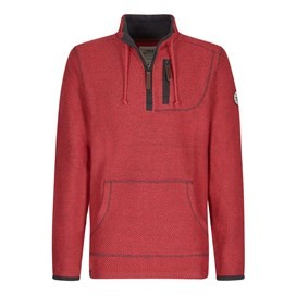 Thor 1/4 Zip Technical Macaroni Sweatshirt Barberry Red