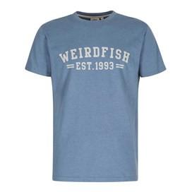 Bang Graphic Print T-Shirt Washed Blue Marl