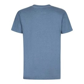 Bang Graphic Print T-Shirt Washed Blue Marl