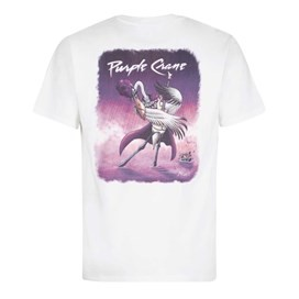 Purple Crane Artist T-Shirt Snow White
