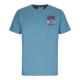 Purple Crane Artist T-Shirt Washed Blue