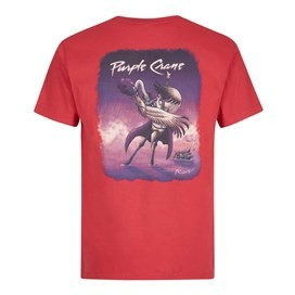 Purple Crane Artist T-Shirt Barberry Red