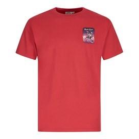 Purple Crane Artist T-Shirt Barberry Red