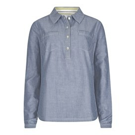 Troika Long Sleeve Smock Shirt Denim