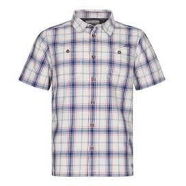 Farley Short Sleeve Check Shirt Vintage Blue