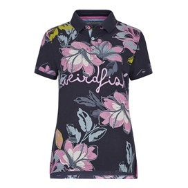 Roselea Printed Polo Shirt Navy