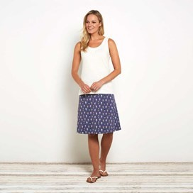 Malmo Printed Jersey Skirt Denim