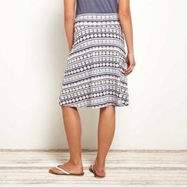 Malmo Printed Jersey Skirt Blue Surf