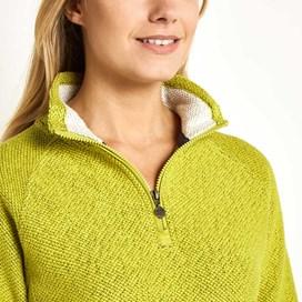 Augusta 1/4 Zip Seira Knit Sweatshirt Citronella