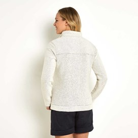 Eartha Full Zip Seira Soft Knit Jacket Ecru