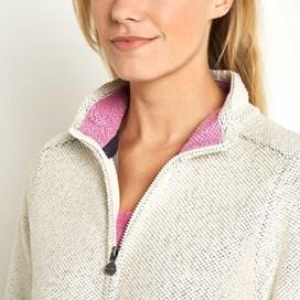 Eartha Full Zip Seira Soft Knit Jacket Cream