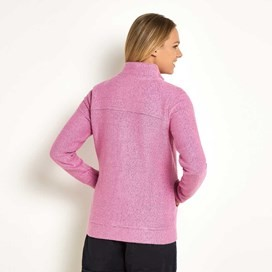Eartha Full Zip Seira Soft Knit Jacket Orchid
