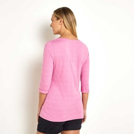 Aster 3/4 Sleeve Striped T-Shirt Orchid