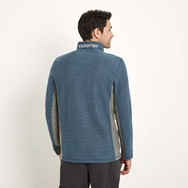 Siren 1/4 Zip Mac Active Macaroni Sweatshirt Washed Blue