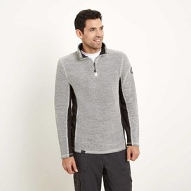 Siren 1/4 Zip Mac Active Macaroni Sweatshirt Soft Grey