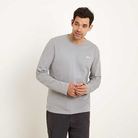 Scales Classic Embroidered Long Sleeve T-Shirt Gunmetal