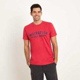 Bang Graphic Print T-Shirt Barberry Red Marl