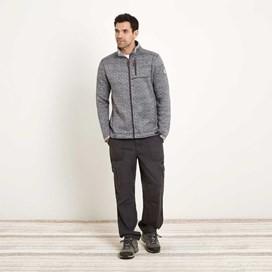 Staten Herringbone Soft Knit Jacket Cement