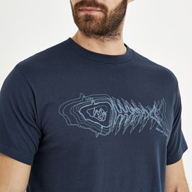 Scribble Graphic Print T-Shirt Moonlight Blue