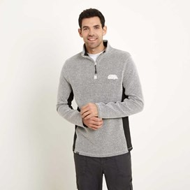 Oyron 1/4 Zip Technical Birdseye Sweatshirt Soft Grey
