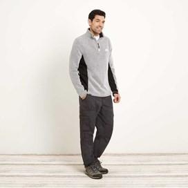 Oyron 1/4 Zip Technical Birdseye Sweatshirt Soft Grey