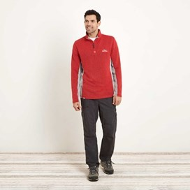 Oyron 1/4 Zip Technical Birdseye Sweatshirt Radical Red