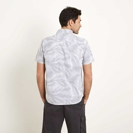 Ardmore Short Sleeve Printed Palm Shirt Washed Black