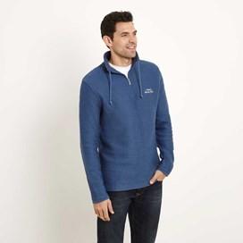 Cruiser 1/4 Zip Classic Macaroni Sweatshirt Vintage Blue